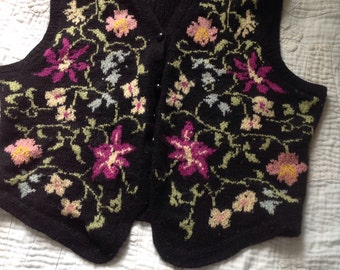 Vintage 1970s knitted waistcoat