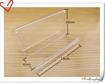 5 1/2 inch (14cm x 8cm ) purse cluch wallet Display Stand  5 pieces   CF54