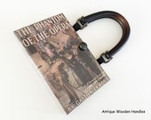 The Phantom Of The Opera Recycled Book Cover Purse - Patron of the Arts Gift - Phantom Pocket Book - Broadway Book Clutch