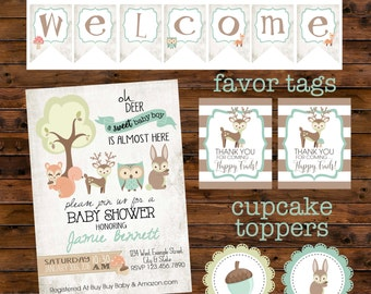 Woodland Baby Shower Package