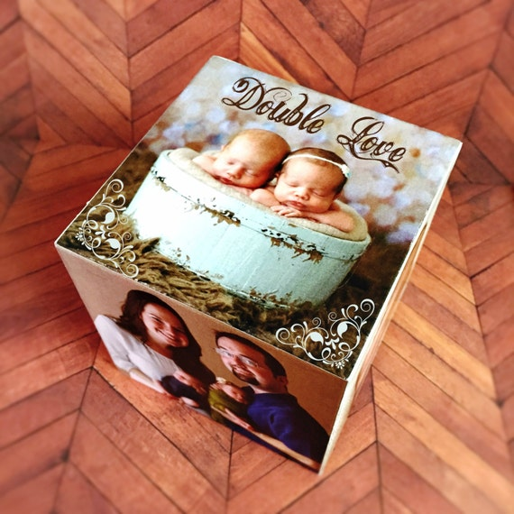 Custom Baby Gifts Australia : Personalized photo cube gift baby