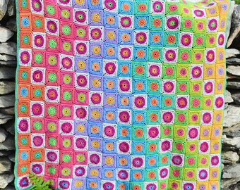 Rainbow over the Foreland Crochet Afghan/Blanket  - PDF CROCHET PATTERN