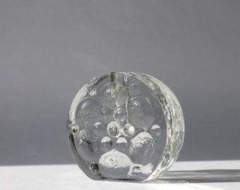 Mid-Century Walther Glas Bud Vase, West German Bubble Glass Vase, Heiner Dusterhaus Design, Scandinavian Modern Home