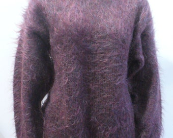 Vintage Purple Mohair Sweater