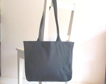 Blue  Genuine  Leather Tote Shoulder Bag