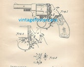 Antique Lithograph of a 1892 Gun Patent by Andrew Fyrberg