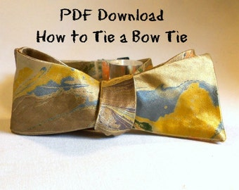 PDF Step by Step Drawing of How to Self Tie a Bow Tie MM-#PDF