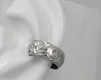Ear Cuff Silver Non-pierced Cartilage Earring Fake Conch No Piercing Cuff Earring Simple Earcuff Faux Pierced Cartilage Hoop Swirl  EWSWSS