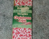 Vintage--Wrights--Bias Tape--SANTA CLAUS--Christmas Trim--Unused--3 Yards--Extra Wide--Double Fold