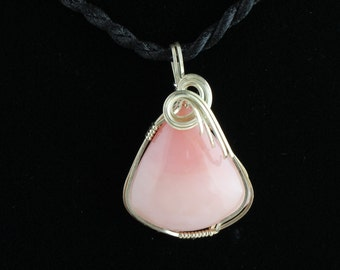 Peruvian Pink Opal Pendant. Listing 256405800