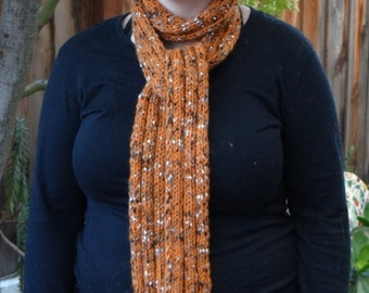Hand-knit Scarf in SF Giants  Colors