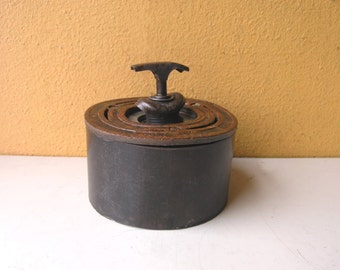 Metal Storage Box, Industrial Pipe Decor, Upcycled wedding gift box, trinket heirloom office storage