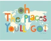 Oh The places you'll go- nursery decor