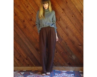 20% OFF mid-season ... Marled Brown Knit Lounge Pants - Vintage 80s - M/L
