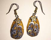 Reserved For Glorianna Steampunk Nativity Scene Manger Earrings Polymer Clay Jewelry
