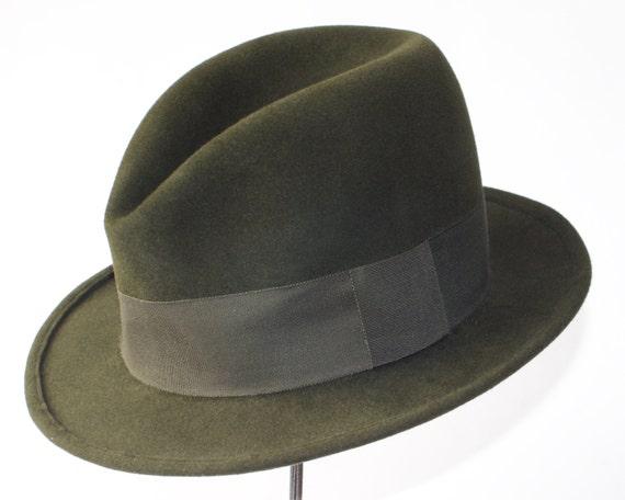 Green Felt Fedora Hat For Men Hunter Green Hat Men's Dress Hat Downton Abbey Hat Formal Hat Custom Men's Hat Spring Accessories Men's Style