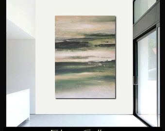 59x43Ex large original modern landscape abstract painting by Elsisy, US artist