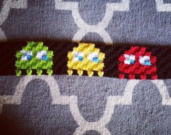 Corner to Corner Pacman Inspired Ghosts Headwrap Crochet Pattern