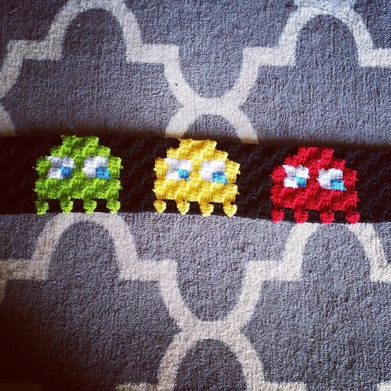 Corner to Corner Pacman Inspired Ghosts Headwrap Crochet