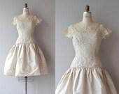 Airs Variés dress | vintage 1950s dress | lace 50s party dress