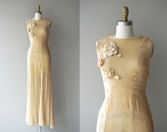 Louveciennes wedding gown | vintage 1930s wedding dress | silk velvet 30s wedding gown