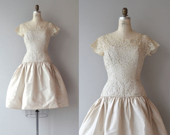 Airs Variés dress | vintage 1950s dress | lace 50s party dress