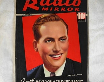 Vintage Radio Mirror magazine October 1936 Vol. 6 No. 6 1930s Lanny Ross, Clark Gable, Nelson Eddy