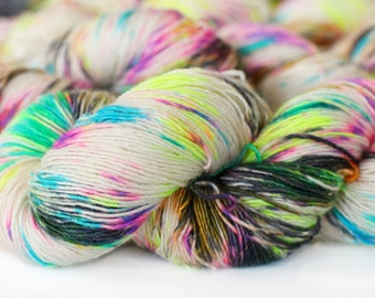 Pop Rocks 438 yards on 'Lustre' Single/ HT Fingering-Sock Yarn, Merino & Silk