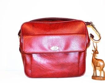 Vintage Tote Crimson Mod Hipster Style