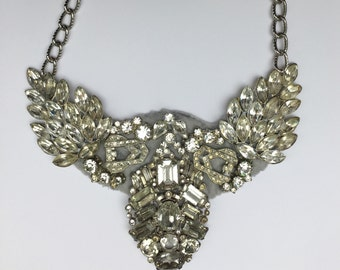 Gilded Age Rhinestone Statement Necklace -Heirloom Collection