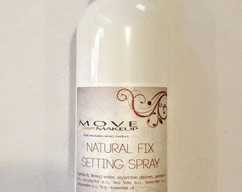 Natural Fix Setting Spray - for Setting Foundation, Nourishing and Refreshing Skin, Essential Oils, Facial Mist, Finishing Spray, Natural