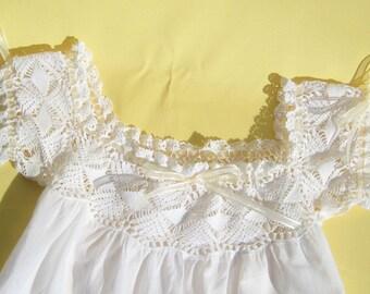 Vintage Camisole Antique Camisole Hand Crocheted Camisole Cream Yoke Crocheted Yoke Vintage Yoke Antique Lingerie 1930s Camisole