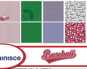 Reminisce BASEBALL Scrapbook Papers - Individual or Set | Papercrafting | Scrapbooking