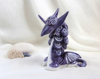 Purple lavender Magical Dragon - Hand Made Ceramic Eco-Friendly Home Decor by studio Vishnya