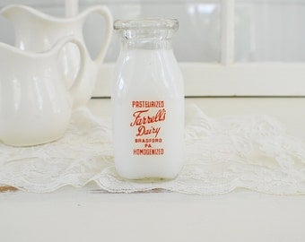 Vintage Milk Bottle-Bradford PA- Country Charm-Farmhouse Kitchen-Vintage Bottle-Dairy Bottle-Pennsylvania Dairy