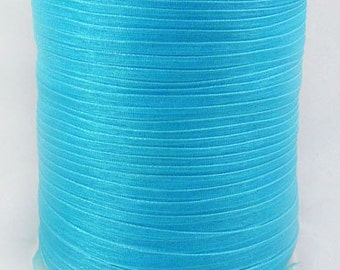 "BULK - Organza Ribbon - 1/4"" thick (6mm) - 500 yards - Turquoise"