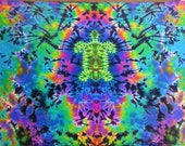 Turtle Tapestry - Handmade Tie Dye - Arrives in a Week or Less - 6ft W X 4ft H - Ready to Ship