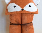 Fox Hooded Towel - Great EASTER, birthday or baby shower gift