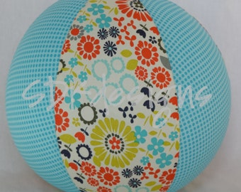Balloon Ball - Retro Vintage Floral & Aqua Polka Dots - As seen with Michelle Obama on Parenting.com