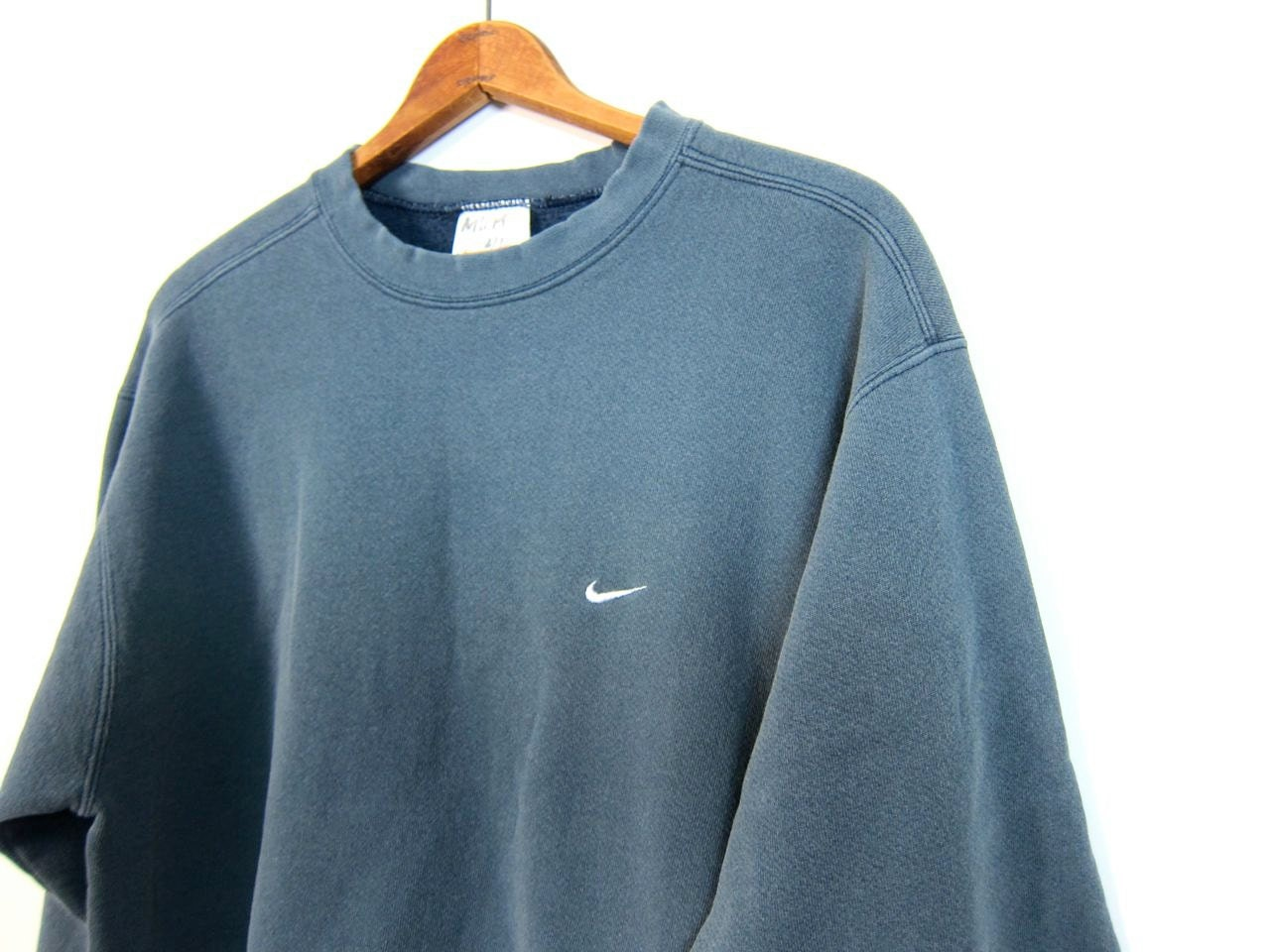 Faded Blue Nike Sweatshirt Washed Out Distressed Athletic