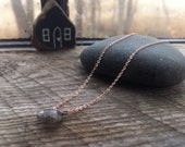 Rose Gold and Labradorite Necklace