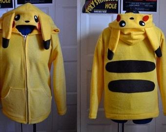 Made to Order Custom Pikachu Hoodie Size 2XL