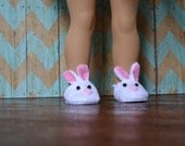 Doll Shoes - Bunny Slippers - fits American Girl Doll