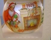 "Vintage Hallmark 1979 Unbreakable Satin Christmas Ornament in Original Box, ""The Night Before Christmas"""