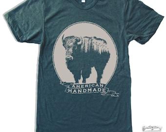 Mens BISON american apparel T Shirt S M L XL (16 Colors Available)