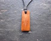 """Natural Wood Pendant - Willow/Saille - Unique """"Secret Sigil"""" Ogham Design."""