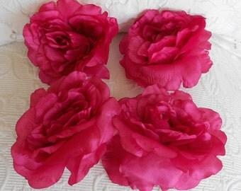 Silk Blend Pink Floppy Roses