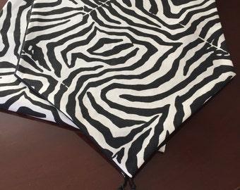 Waverly Wildlife Home Decor Black And White Zebra Animal Print Table Runner  By ThemeRunners