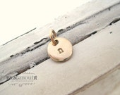 A La Carte . Hand Stamped Gold Filled Teeny Tiny Disc . Brag About It