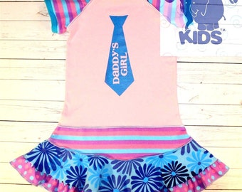 """DADDY""""S GIRL  super cool funky hand silk screened recycled upcycled  pieced  size 7"""